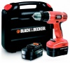 Шуруповерт Black&Decker EPC12CABK-XK, Ni-Cd, 12В/1,2Ач, 750об/мин, 11Нм, 10ммБЗП, 25мм, кейс, 2кг